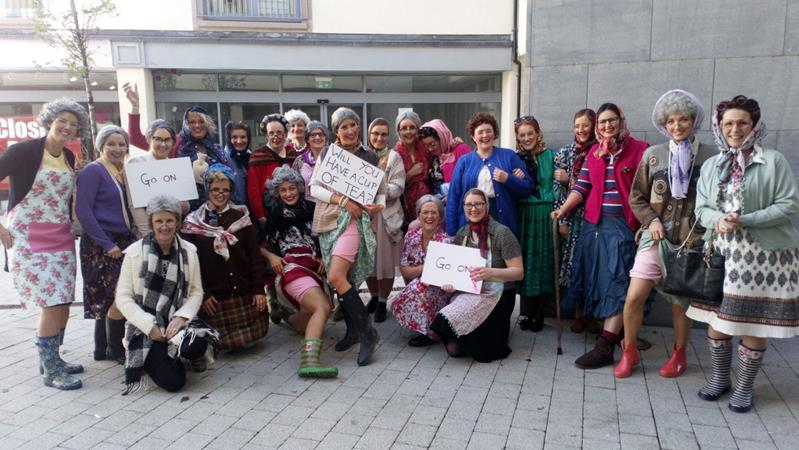 Mrs Doyle and her grannies activity Hen Party Activity Athlone hen night TheHen.ie