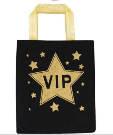 a VIP Star on a black bag for a hen party