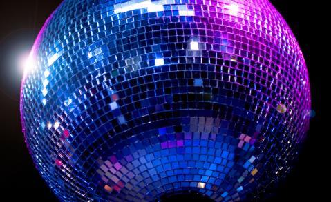a shiny disco ball