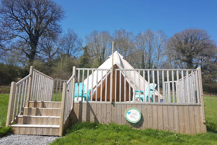 Glamping Hen Party - Butterfly Glamping - Ireland - Holly Blue Bell Tent