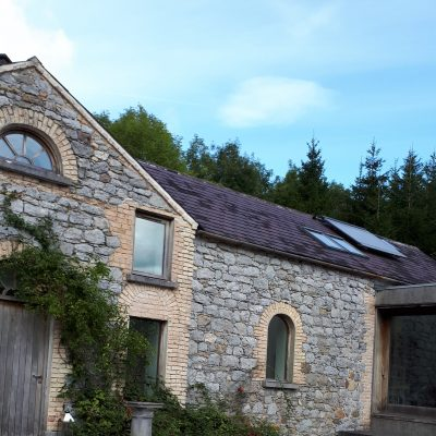 the stonework on the outside of the stables hen party house