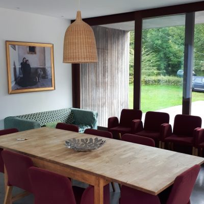 Table & chairs in the dining room for a hen weekend in The Stables self catering house near athlone