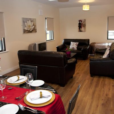 Arch House Apartments Athlone living room, hen party ideas ireland, thehen.ie