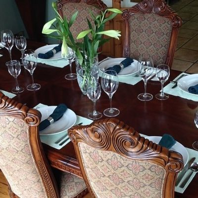 Ballyvara House Doolin,dining table, Hen Party Weekend, self catering house, packages, ideas TheHen.ie