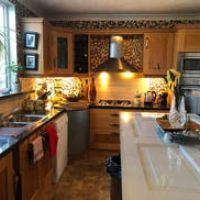 The Kitchen in banba house in galway for a hen weekend