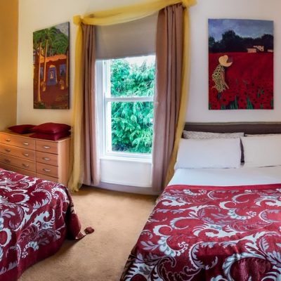 2 Double beds in a guest room in Galway Banba Guesthouse