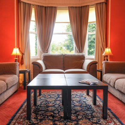 the sitting room in banba self catering house for a hen weekend in galway