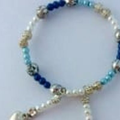Image of a braclet made at a Jewelry Making activity on a Hen Party