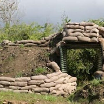 Image of a bunker for Paintballing Hen party activity Carrick on Shannon