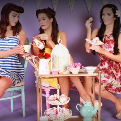 Themed Photoshoot Hen Party Activity vintage tea