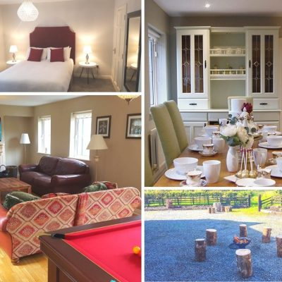 collection of 4 photos of a self catering house in Carlingford