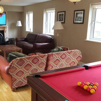 Sitting Room with Pool Table in a Self Catering House in Carlingford