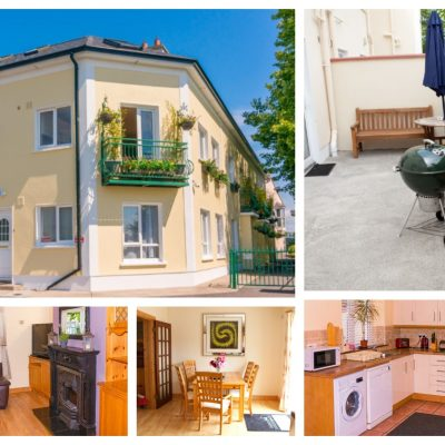 a collage of images of the self catering house in carrick on shannon for a hen weekend