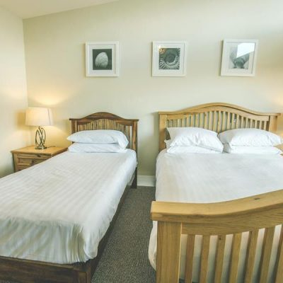 1 double bed and 1 single bed ready for a hen party