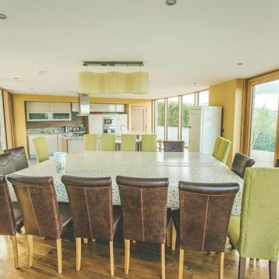 Extra Large Breakfast Table in Self Catering House for a Hen Weekend