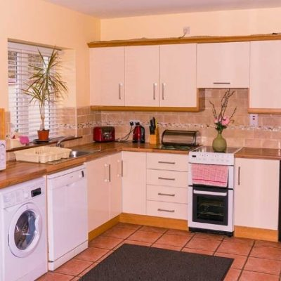 Kitchen in Waterfront House Self Catering Hen Party