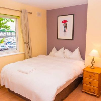 Double Bed in Waterfront House Self Catering Hen Party